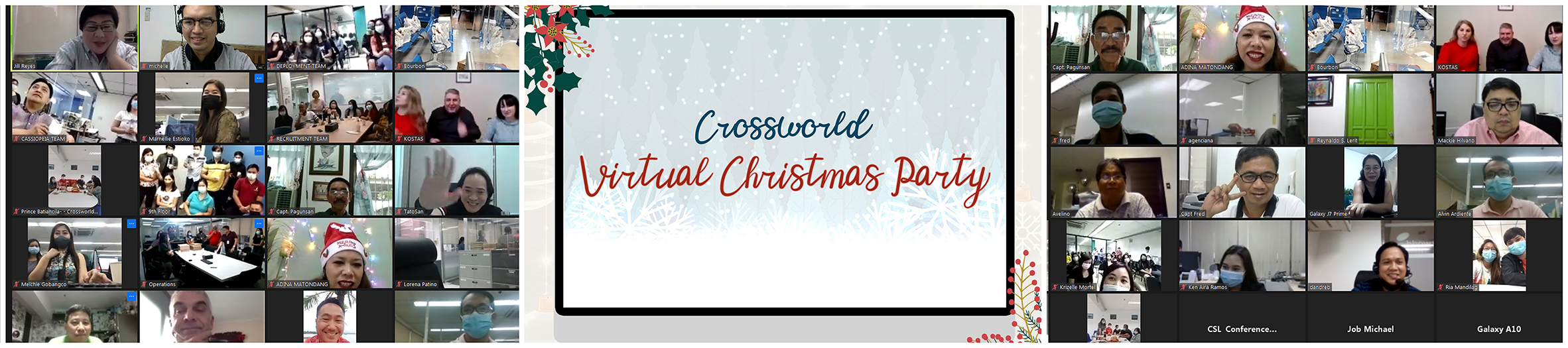 Crossworld holds Virtual Christmas Party
